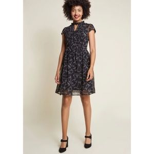ModCloth Oh Say Can Museum Dress in Black Cat